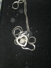 beautiful heart necklace with floating diamond Manor, 78653