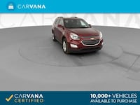2017 Chevy Chevrolet Equinox suv LT Sport Utility 4D Red Brentwood