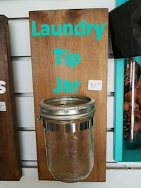 Laundry room wall plaque jar for change Innisfil, L9S 1X8