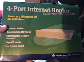 NEW 4 port Cable/DSL/Ethernet Router.