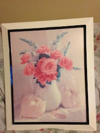 Pink and white flowers in vase painting Henderson, 89014