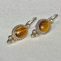 Sterling Silver Tigers Eye Earrings