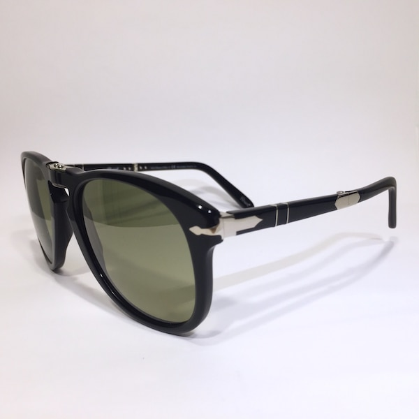 84a4231d882 Persol 714 Steve McQueen 95 83 black green photo polarized folding  sunglasses (MSRP  480