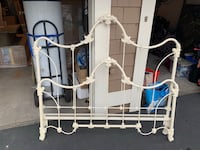 antique queen bed frame – only headboard and end Carlsbad, 92011