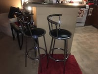 Two black leather padded bar stools Hyattsville, 20781
