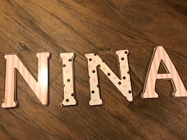 Wooden Letters NINA
