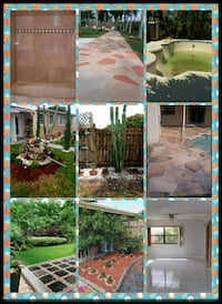 green and brown wooden house photo collage Oakland Park, 33334