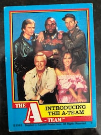 1983 A-Team Trading Cards.