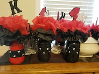 Set of 8 Mickey Mouse themed glass