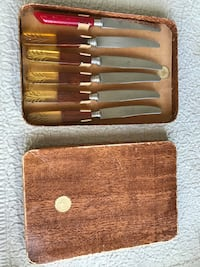 Vintage Rostfrei knife set with box