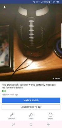 Rob gronkowski bluetooth light up speaker  Goshen, 10924