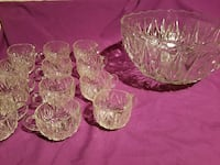 Crystal Punch Bowl with 12 cups Jacksonville, 32225