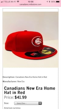 (BRAND NEW) Official New Era Vancouver Canadians Hat