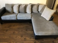 gray suede sectional sofa with throw pillows Las Vegas, 89183