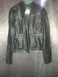 black leather zip-up jacket Brooklyn, 11216