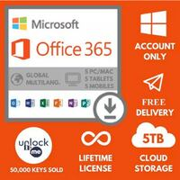 Microsoft Office 365 2019 Lifetime Account for 5 Devices Windows | Mac |Android Richmond Hill