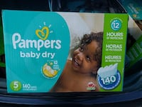 Pampers Baby dry Number 5 Mega Box 140 count