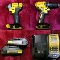 Dewalt 20vmax impact drill 2 batterys and charger  Oklahoma City, 73107