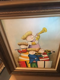 Group of person playing instrument painting