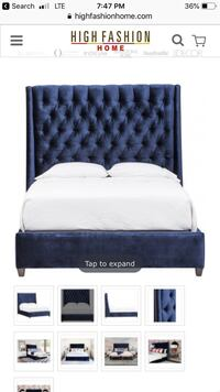 "Royal Blue ""Amelia"" Bed"