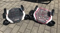 Two gray and pink graco booster seats Vancouver, V5R 5E3