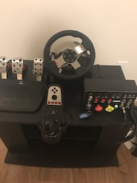 Logitech g27 racing wheel and controllers