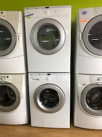 LG white stackable washer and dryer set  Woodbridge, 22191
