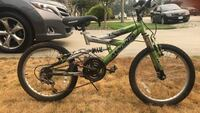 Green and black full-suspension mountain bike Maple Ridge, V2X 3A9