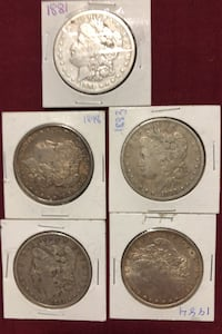 Morgan Silver Dollars from the 1880s. Calgary, T2Y
