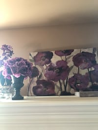 purple and white flowers painting 2298 mi