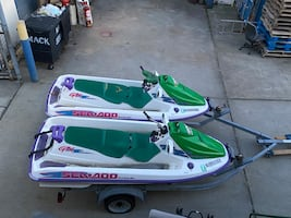 2 Seadoo's with trailer