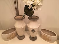 white ceramic vase and container set of 4 Fairmount Heights, 20743