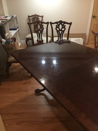 brown wooden rectangular dining table set St Catharines, L2R