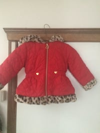 red, brown, and black leopard print winter jacket Calgary, T2J 6R5