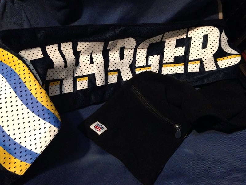 San Diego Chargers scarf with pocket  b1634c38-801d-43c9-841c-736b5c4e1396
