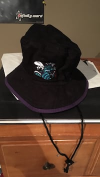purple and black Hornets bucket hat