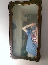 Antique mirror hand- carved