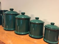 green ceramic canisters Boonsboro