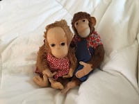 Male and female Steiff collectible vintage Monkeys  Laguna Beach, 92651