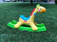 Toddler's yellow and green rocking giraffe Mississauga, L5R 1P5