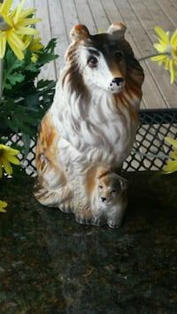 Vintage Ceramic Collie & Pup Wenatchee, 98801