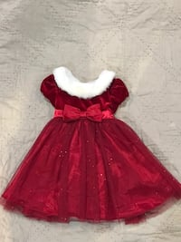 Red and white toddler dress Sterling, 20164