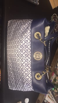 Tommy Hilfiger blue white and gold Handbag