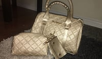Quilted 3 pc white leather tote bag  Mississauga, L5M 0C1