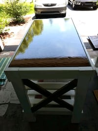 Another 3 peice dining x style farm house table, Indianapolis, 46237