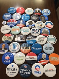 Obama campaign's official complete collection of all 40 campaign pins Ashburn, 20148