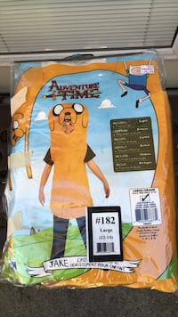 Adventure Time Jake Halloween Costume Kids Size 12-14 Imperial, 63052
