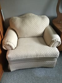 white fabric padded sofa chair Collingwood, L9Y 0G6