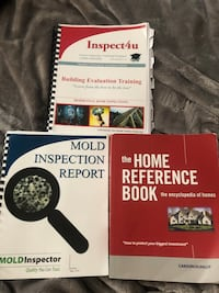 Home Inspection full course books including Mold and Asbestos book as well. From 2018 still up to provincial government guidelines and recognized. St Albert, T8N 4K8