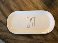 New Rae Dunn EAT oval platter from 9/2017 Los Angeles, 91367